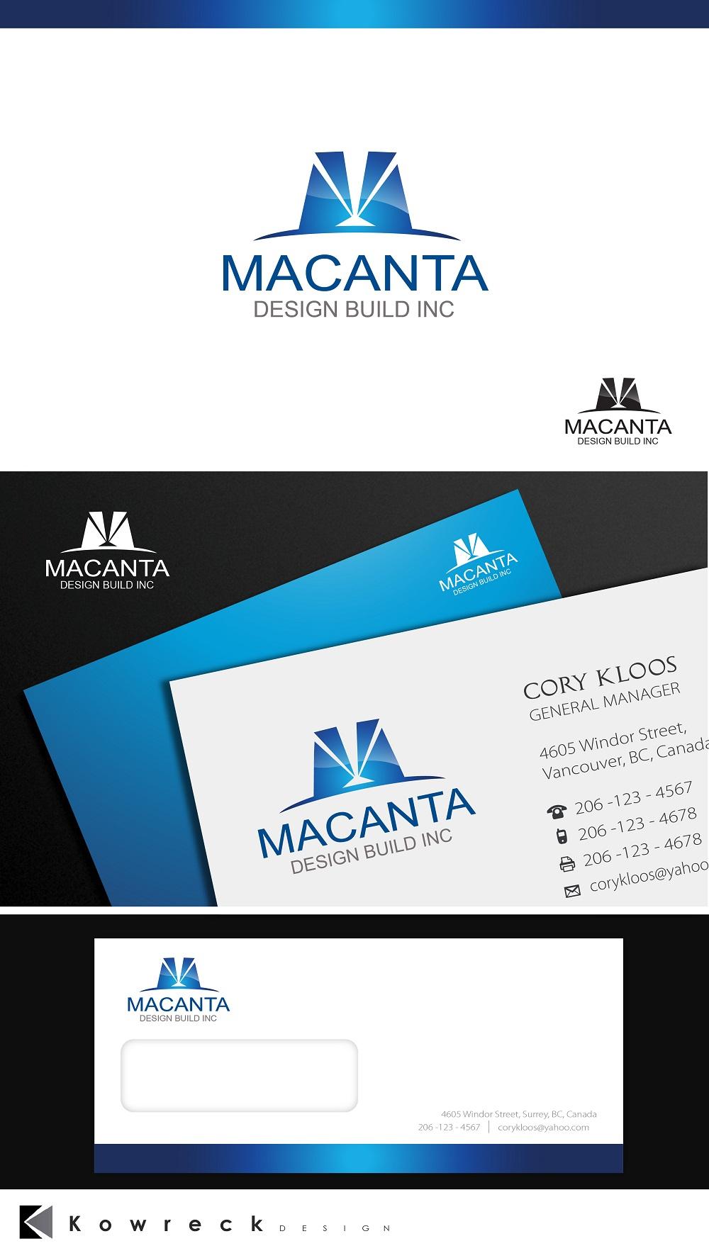 Logo Design by kowreck - Entry No. 177 in the Logo Design Contest Captivating Logo Design for Macanta Design Build Inc.