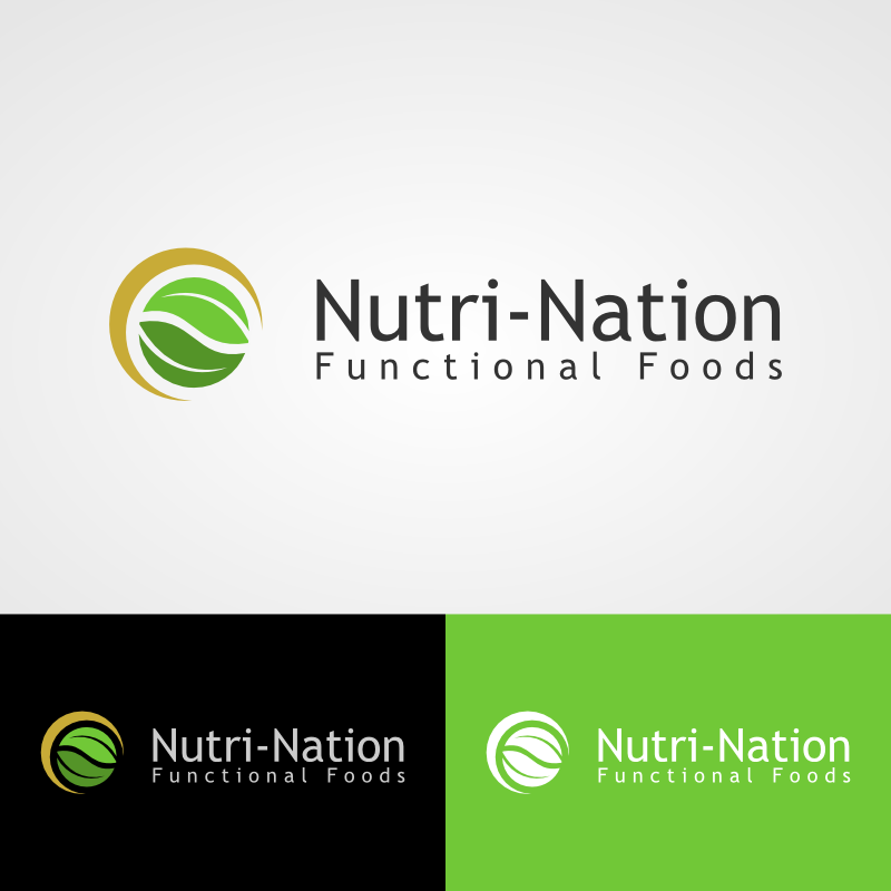 Logo Design by Andrean Susanto - Entry No. 60 in the Logo Design Contest Nutri-Nation Functional Foods Logo.