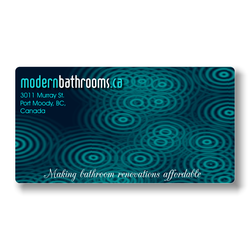 Business Card Design by Rudy - Entry No. 85 in the Business Card Design Contest modernbathrooms.ca image enhancement.