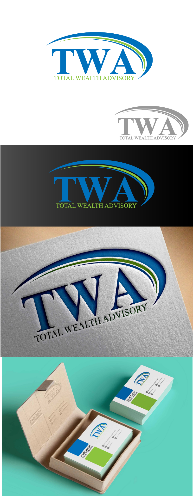 Logo Design by Private User - Entry No. 27 in the Logo Design Contest Imaginative Logo Design for Total Wealth Advisory (TW Advisory).