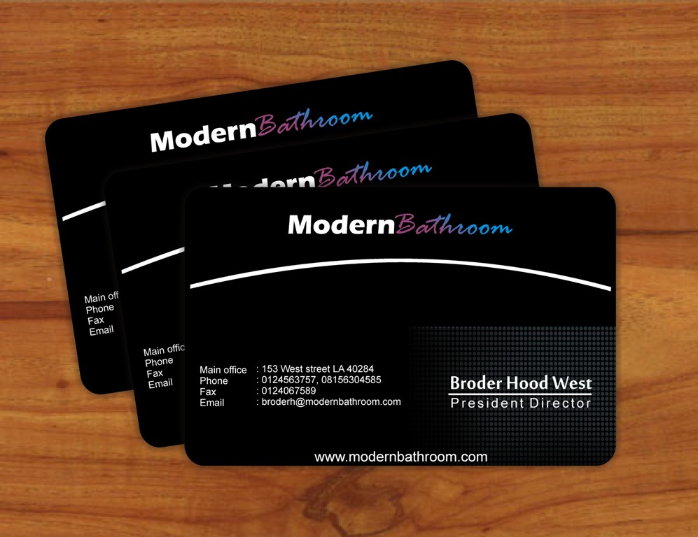 Business Card Design by Edi Rochadi - Entry No. 88 in the Business Card Design Contest modernbathrooms.ca image enhancement.