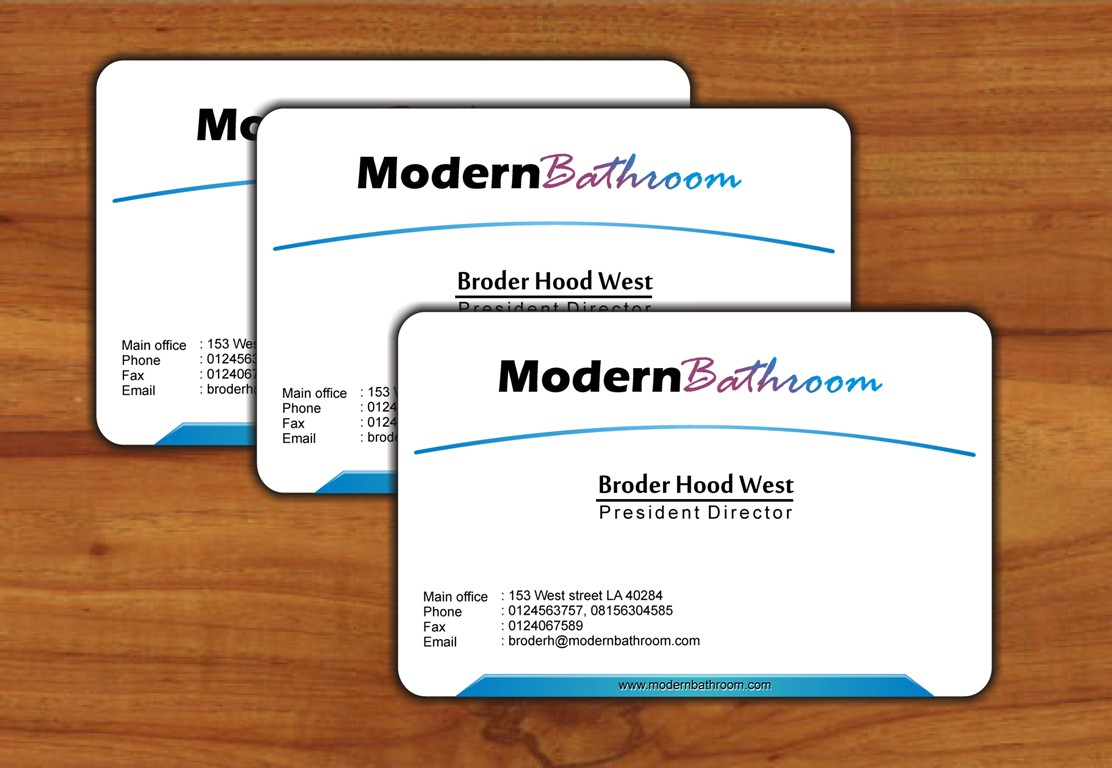 Business Card Design by Edi Rochadi - Entry No. 89 in the Business Card Design Contest modernbathrooms.ca image enhancement.