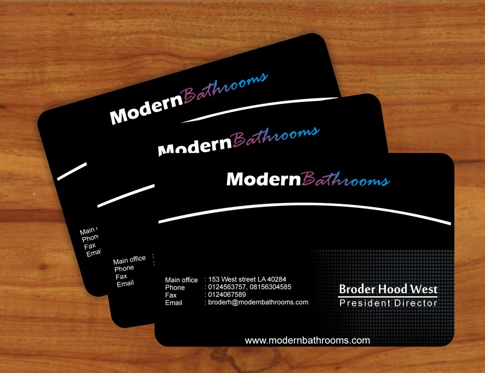 Business Card Design by Edi Rochadi - Entry No. 90 in the Business Card Design Contest modernbathrooms.ca image enhancement.