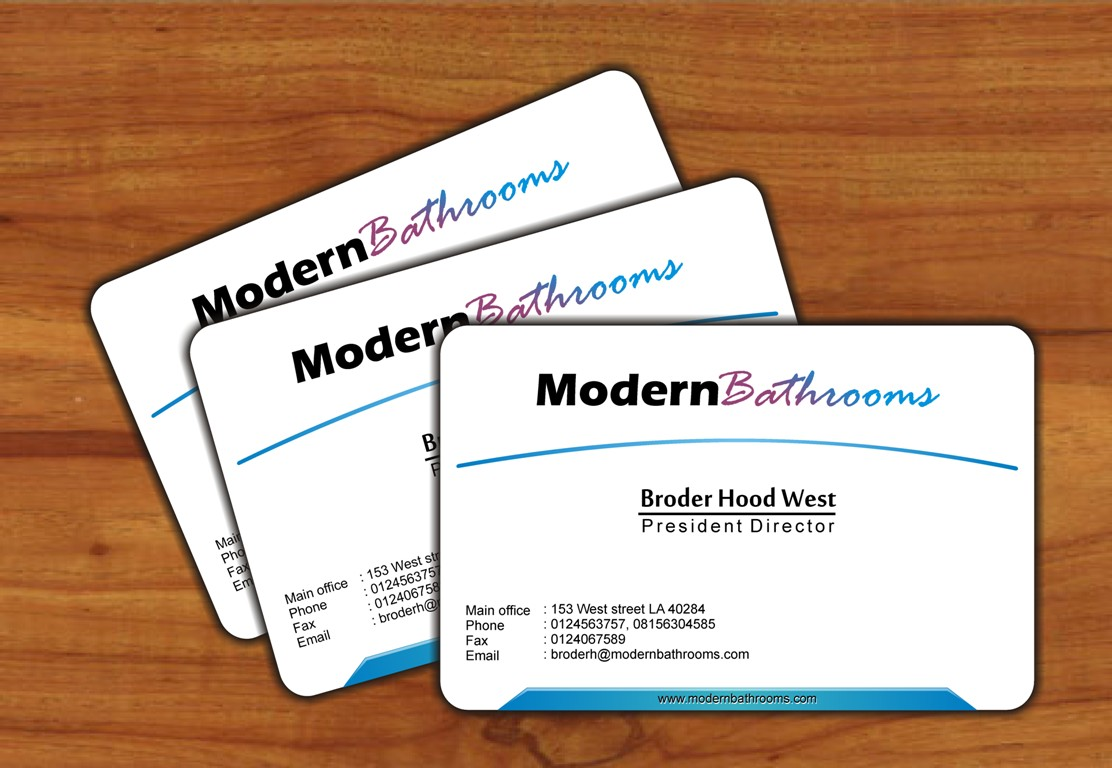 Business Card Design by Edi Rochadi - Entry No. 91 in the Business Card Design Contest modernbathrooms.ca image enhancement.