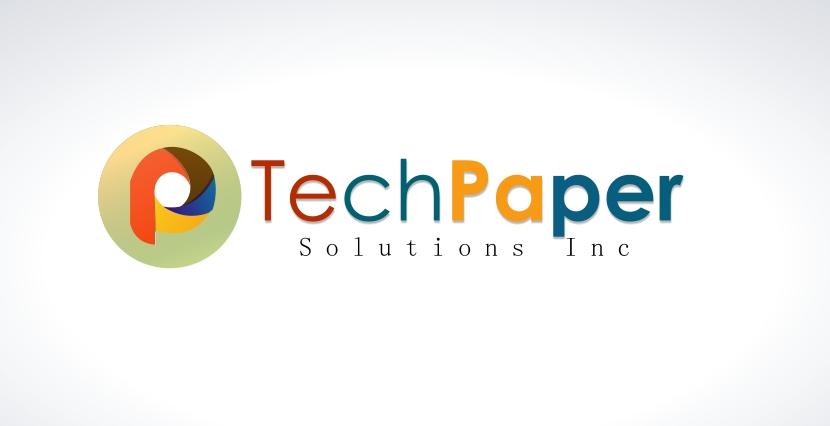 Logo Design by Private User - Entry No. 46 in the Logo Design Contest Imaginative Logo Design for TechPaper Solutions Inc..