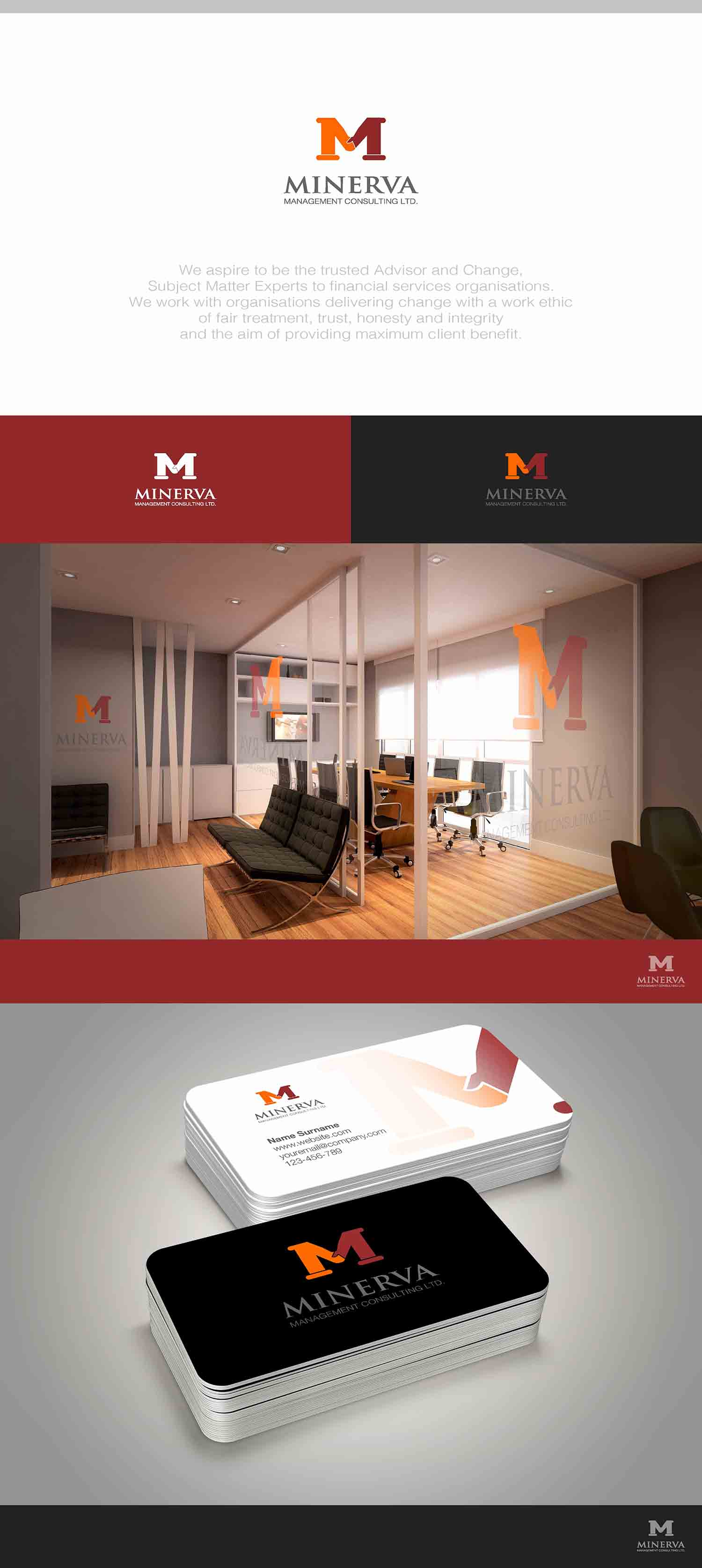 Logo Design by Creap Autagab - Entry No. 49 in the Logo Design Contest Logo Design for Minerva Management Consulting Limited.