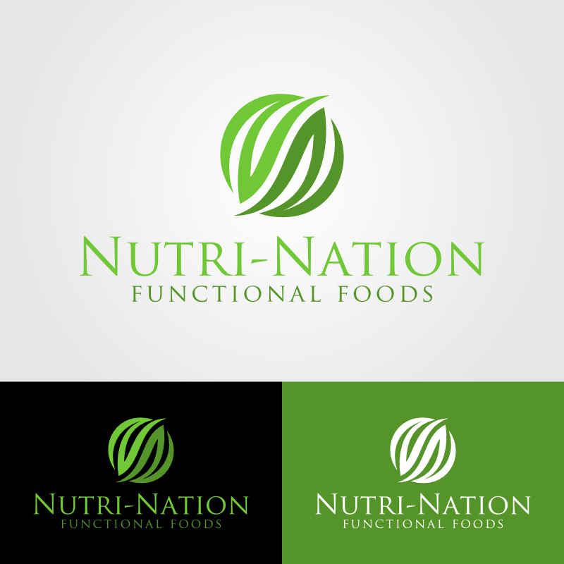 Logo Design by Andrean Susanto - Entry No. 79 in the Logo Design Contest Nutri-Nation Functional Foods Logo.