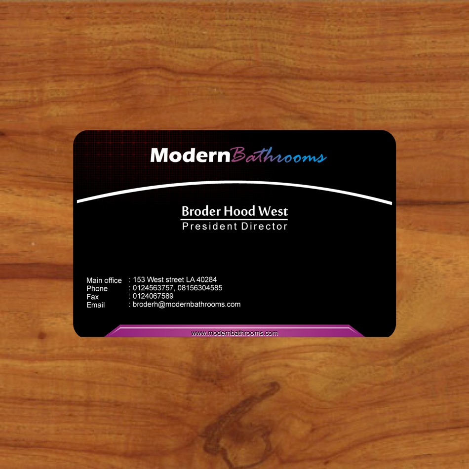 Business Card Design by Edi Rochadi - Entry No. 101 in the Business Card Design Contest modernbathrooms.ca image enhancement.
