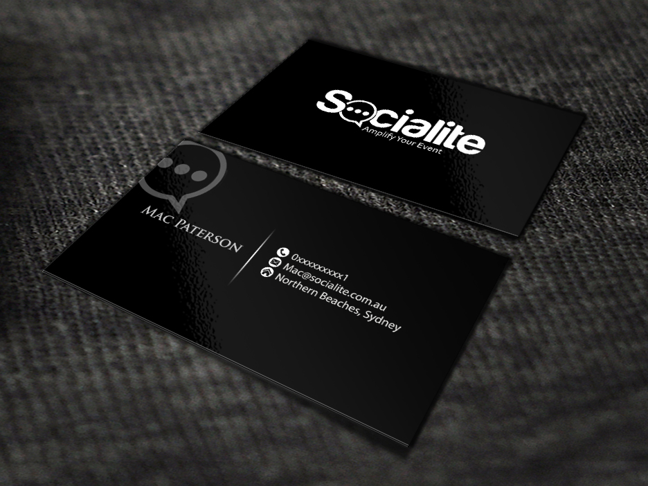 Business card design contests socialite llc business card design business card design by renren entry no 36 in the business card design contest reheart Image collections