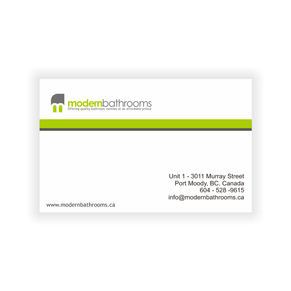 Business Card Design by LukeConcept - Entry No. 105 in the Business Card Design Contest modernbathrooms.ca image enhancement.