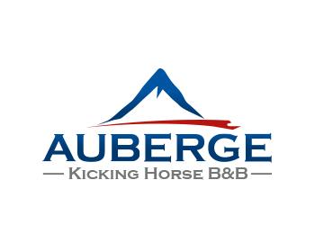 Logo Design by Devon Renandy - Entry No. 8 in the Logo Design Contest Imaginative Logo Design for Auberge Kicking Horse B&B.