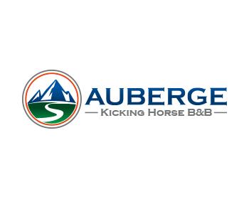 Logo Design by Devon Renandy - Entry No. 9 in the Logo Design Contest Imaginative Logo Design for Auberge Kicking Horse B&B.