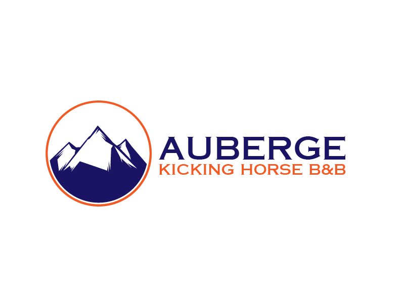 Logo Design by brands_in - Entry No. 12 in the Logo Design Contest Imaginative Logo Design for Auberge Kicking Horse B&B.