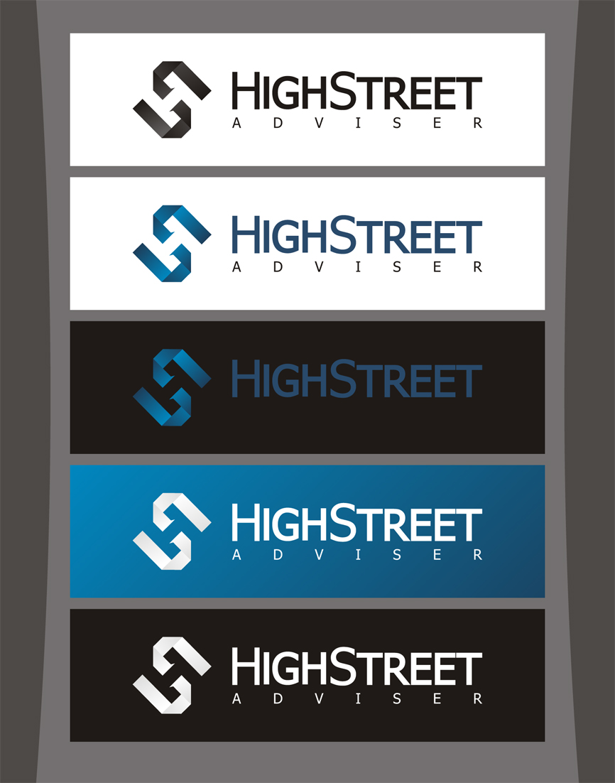 Logo Design by RasYa Muhammad Athaya - Entry No. 61 in the Logo Design Contest Fun Logo Design for HighStreet Adviser.