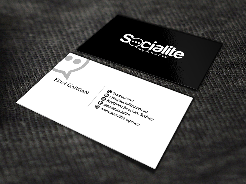 Business card design contests socialite llc business card design business card design by renren entry no 82 in the business card design contest reheart Image collections