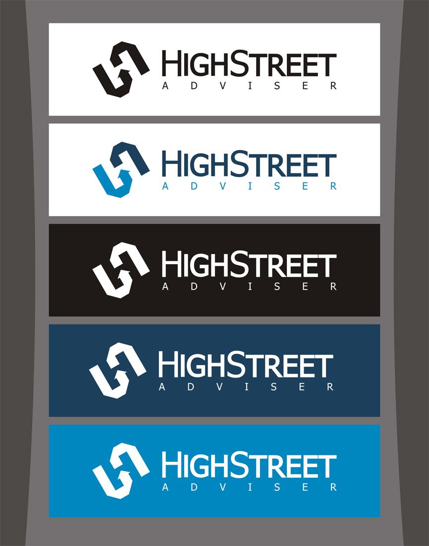 Logo Design by RasYa Muhammad Athaya - Entry No. 66 in the Logo Design Contest Fun Logo Design for HighStreet Adviser.