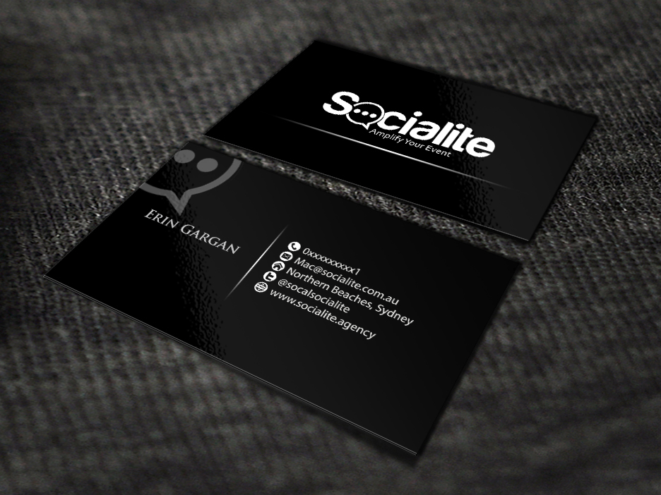 Business Card Design by renren - Entry No. 85 in the Business Card Design Contest Socialite LLC  Business Card Design.