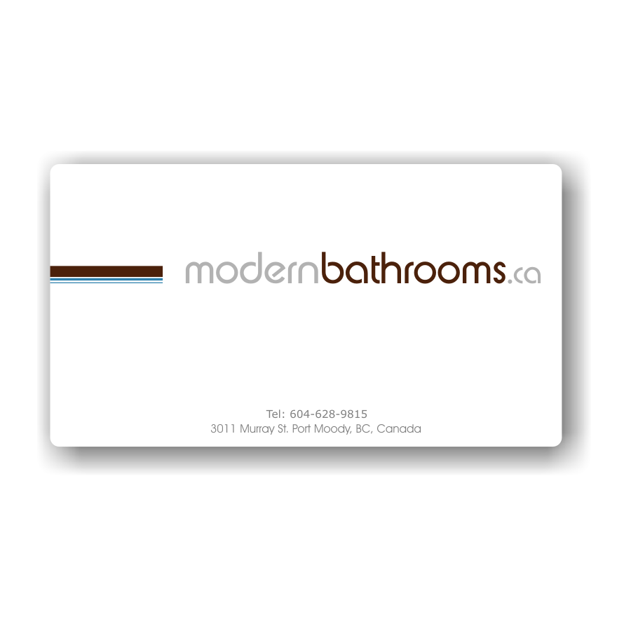 Business Card Design by Rudy - Entry No. 106 in the Business Card Design Contest modernbathrooms.ca image enhancement.