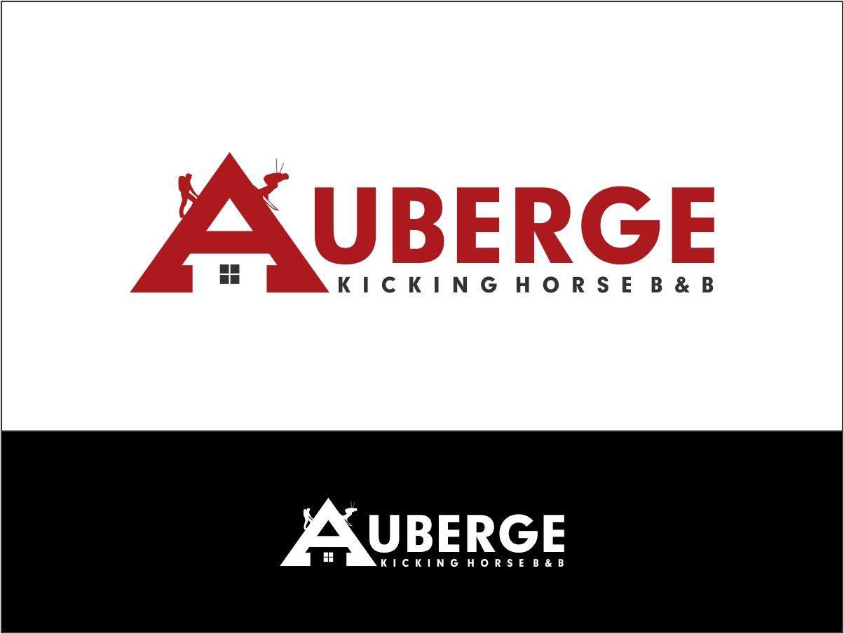 Logo Design by Juan_Kata - Entry No. 53 in the Logo Design Contest Imaginative Logo Design for Auberge Kicking Horse B&B.