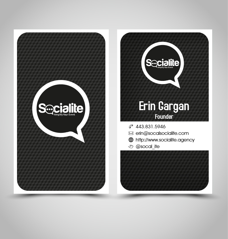Business Card Design by Takudzwa Matambanadzo - Entry No. 101 in the Business Card Design Contest Socialite LLC  Business Card Design.