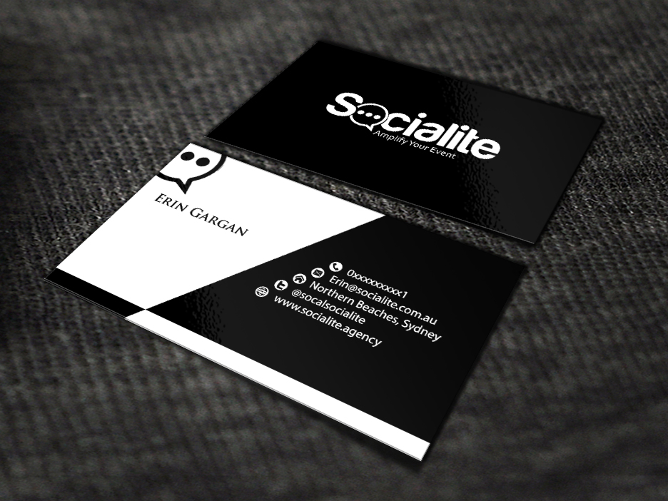 Business Card Design by renren - Entry No. 105 in the Business Card Design Contest Socialite LLC  Business Card Design.