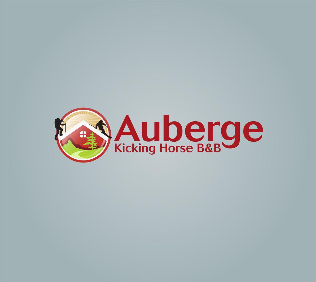 Logo Design by pandisenyo - Entry No. 60 in the Logo Design Contest Imaginative Logo Design for Auberge Kicking Horse B&B.