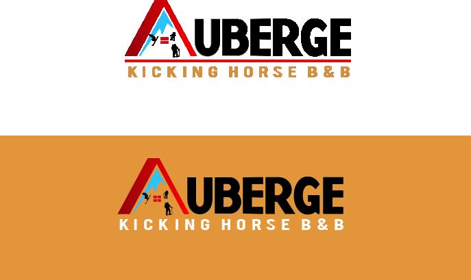 Logo Design by Allan Esclamado - Entry No. 70 in the Logo Design Contest Imaginative Logo Design for Auberge Kicking Horse B&B.