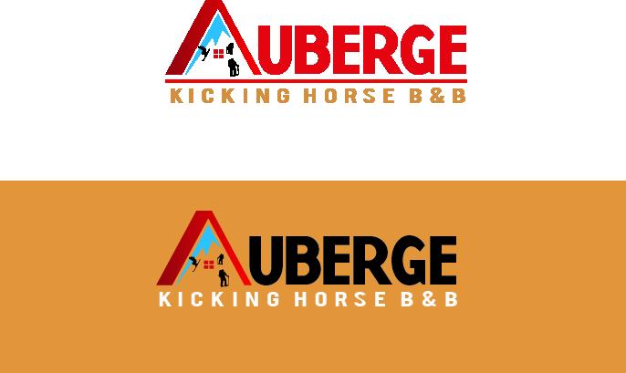 Logo Design by Allan Esclamado - Entry No. 71 in the Logo Design Contest Imaginative Logo Design for Auberge Kicking Horse B&B.