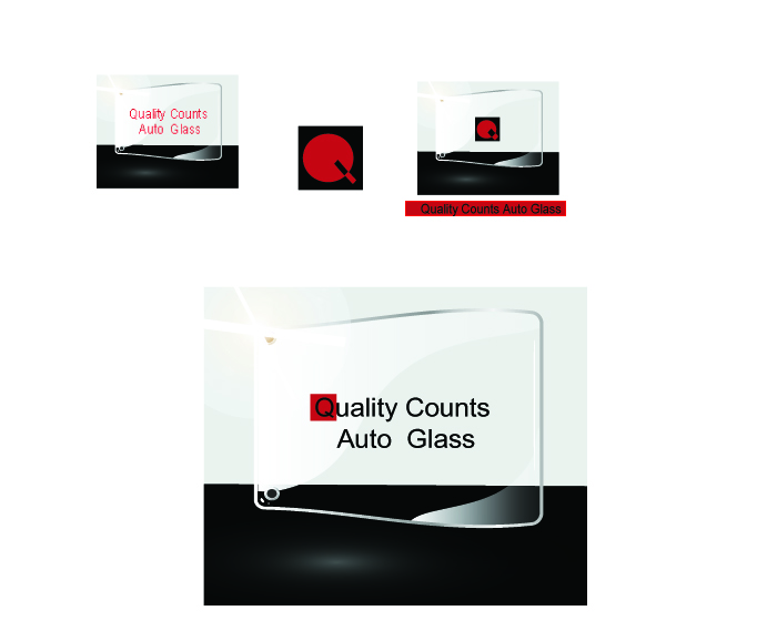 Logo Design by Tehzeeb Ahmed - Entry No. 51 in the Logo Design Contest New Logo Design for Quality Counts Auto Glass.