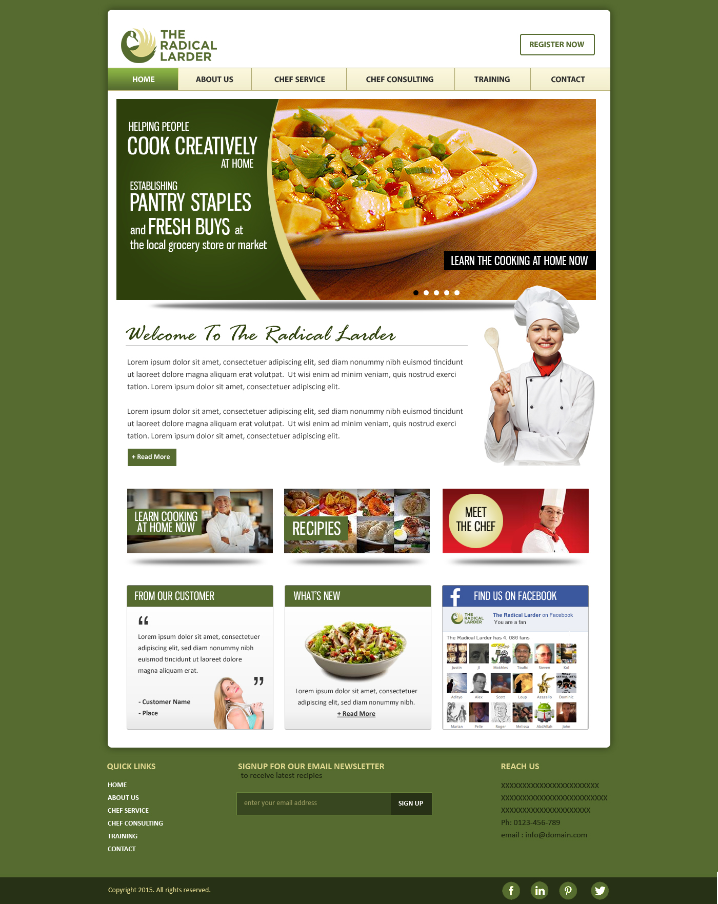 Web Page Design by webexprtz - Entry No. 27 in the Web Page Design Contest The Radical Larder Web Page Design.