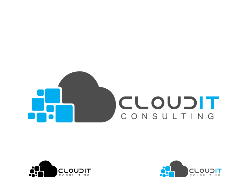 Logo Design by Qurban Hussain - Entry No. 23 in the Logo Design Contest Captivating Logo Design for Cloud IT Consulting.