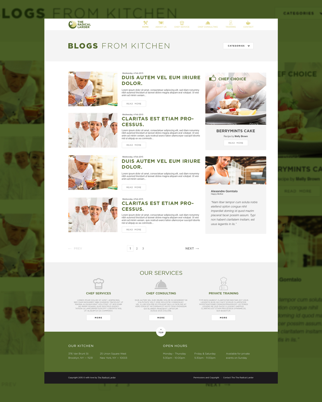 Web Page Design by Private User - Entry No. 47 in the Web Page Design Contest The Radical Larder Web Page Design.
