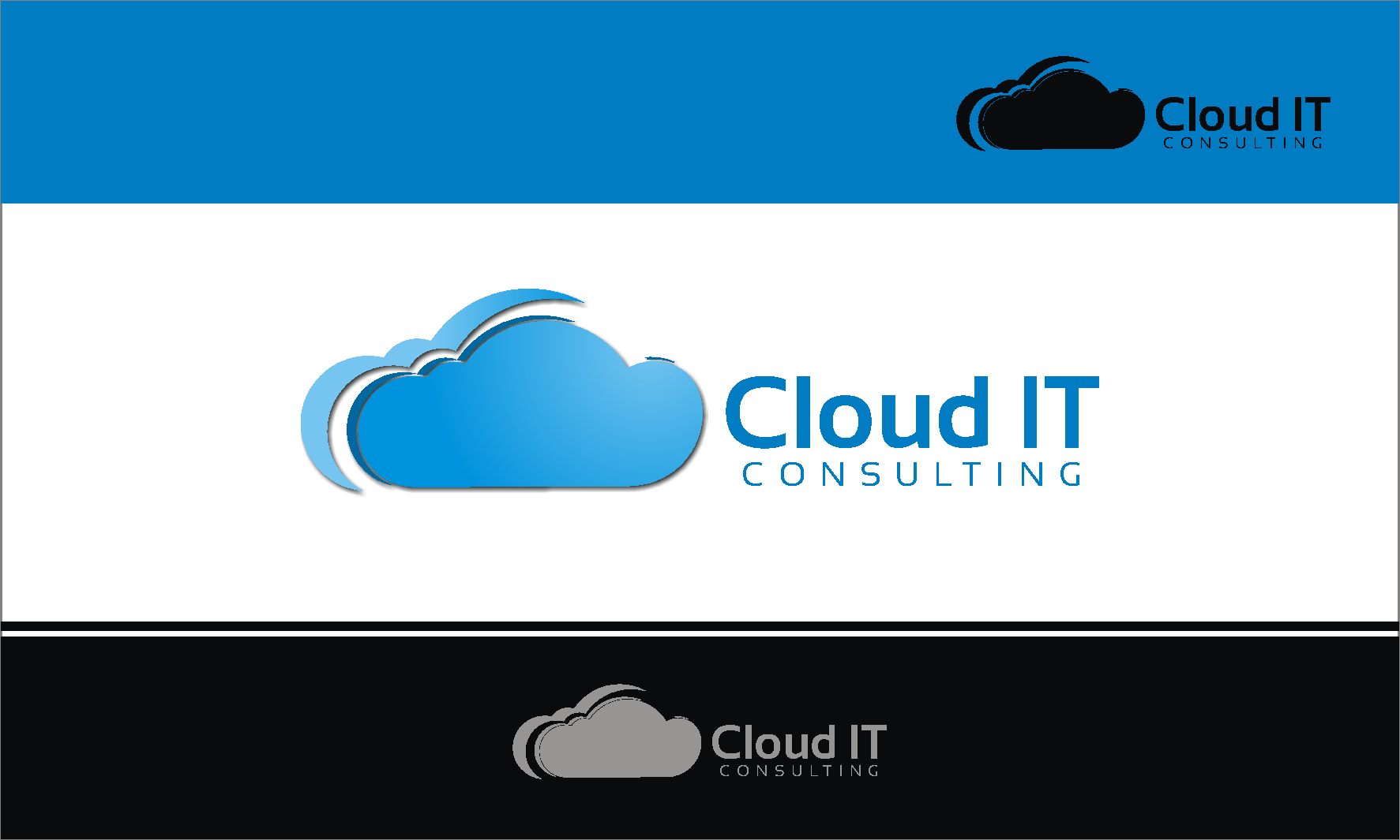 Logo Design by Private User - Entry No. 78 in the Logo Design Contest Captivating Logo Design for Cloud IT Consulting.