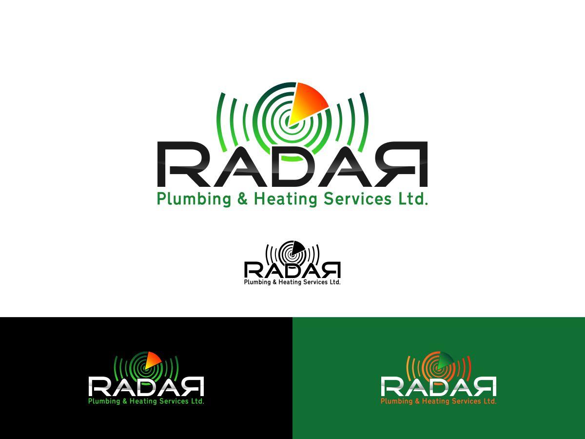 Logo Design by Mhon_Rose - Entry No. 37 in the Logo Design Contest Inspiring Logo Design for Radar Plumbing & Heating Services Ltd..
