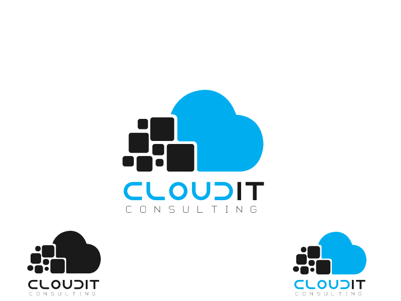 Logo Design by Qurban Hussain - Entry No. 101 in the Logo Design Contest Captivating Logo Design for Cloud IT Consulting.