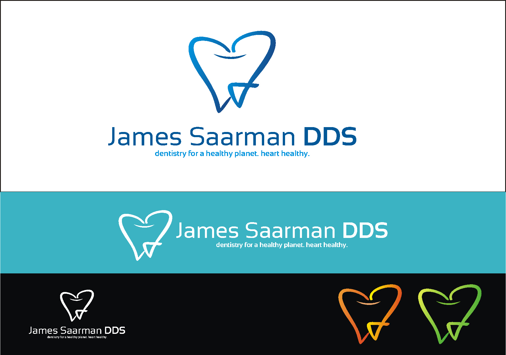Logo Design by Private User - Entry No. 71 in the Logo Design Contest Unique Logo Design Wanted for James Saarman DDS.