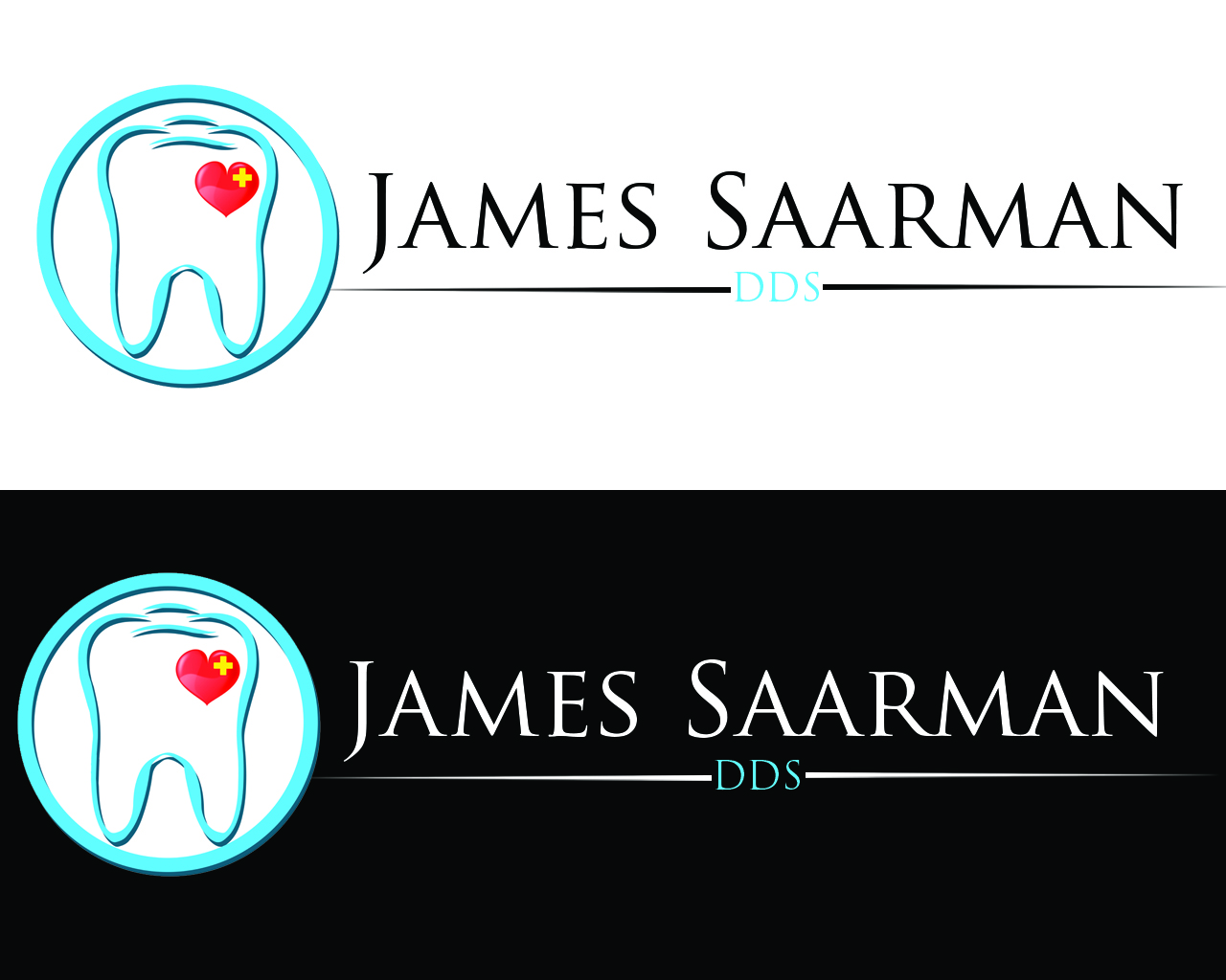 Logo Design by Aljohn Mana-ay - Entry No. 89 in the Logo Design Contest Unique Logo Design Wanted for James Saarman DDS.