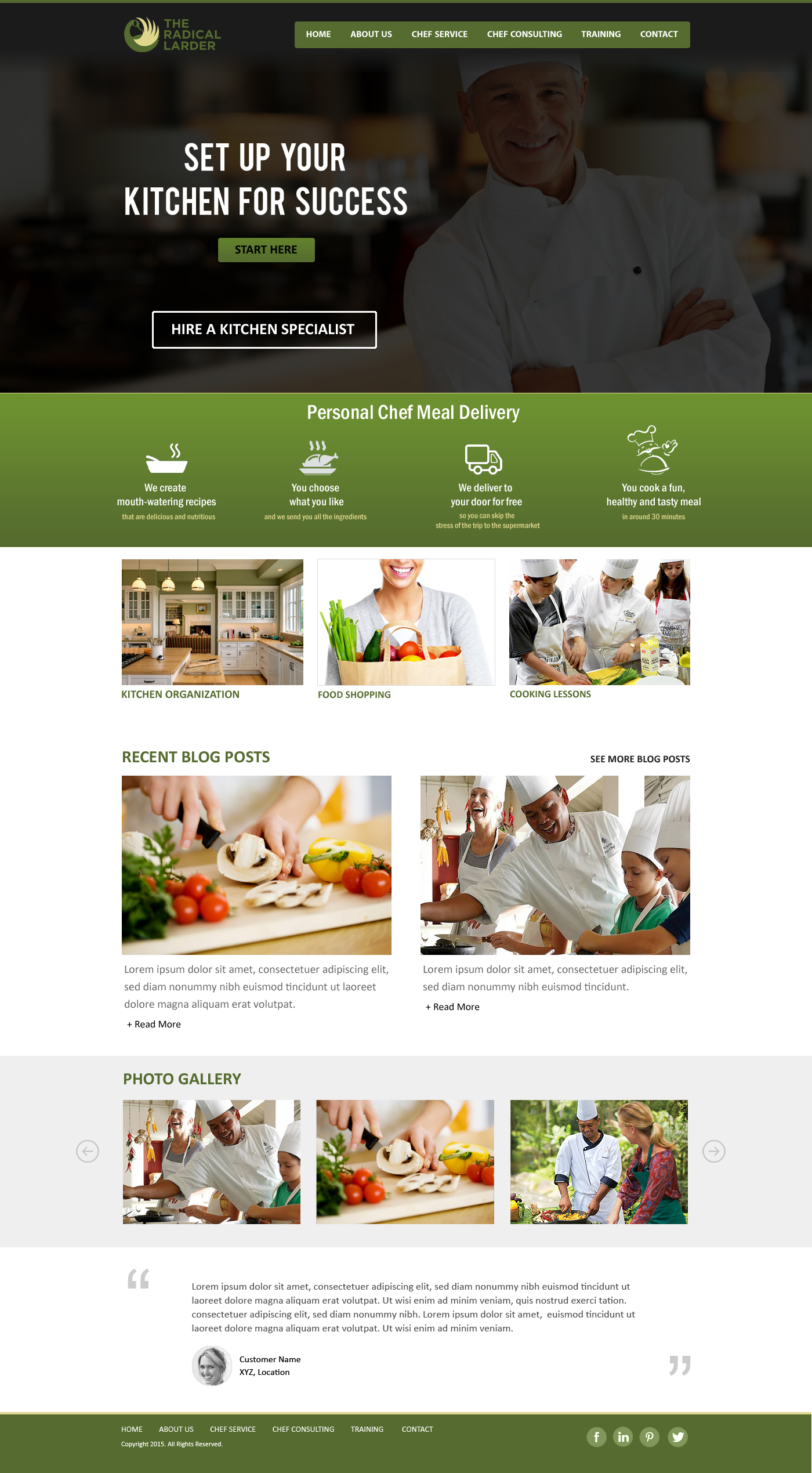 Web Page Design by webexprtz - Entry No. 78 in the Web Page Design Contest The Radical Larder Web Page Design.