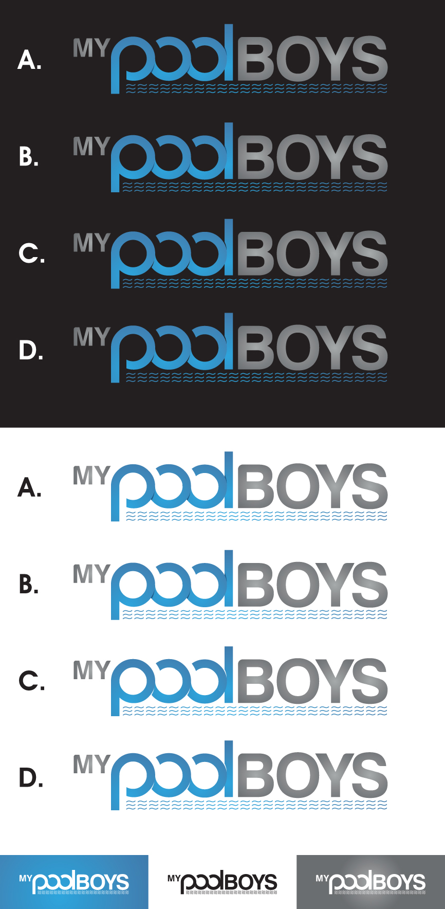Logo Design by RasYa Muhammad Athaya - Entry No. 61 in the Logo Design Contest Artistic Logo Design for MyPoolBoys.