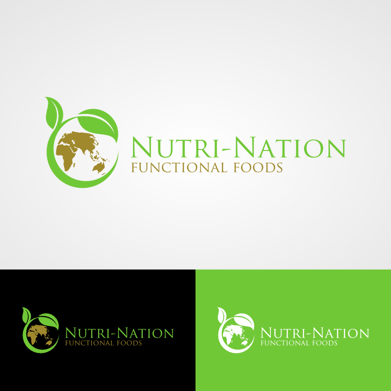 Logo Design by Andrean Susanto - Entry No. 126 in the Logo Design Contest Nutri-Nation Functional Foods Logo.