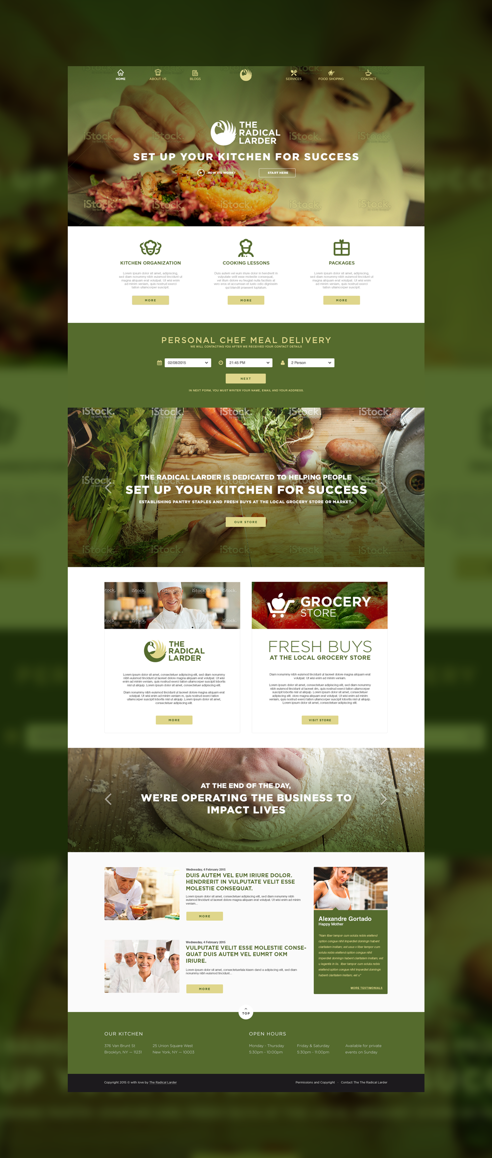 Web Page Design by Private User - Entry No. 91 in the Web Page Design Contest The Radical Larder Web Page Design.