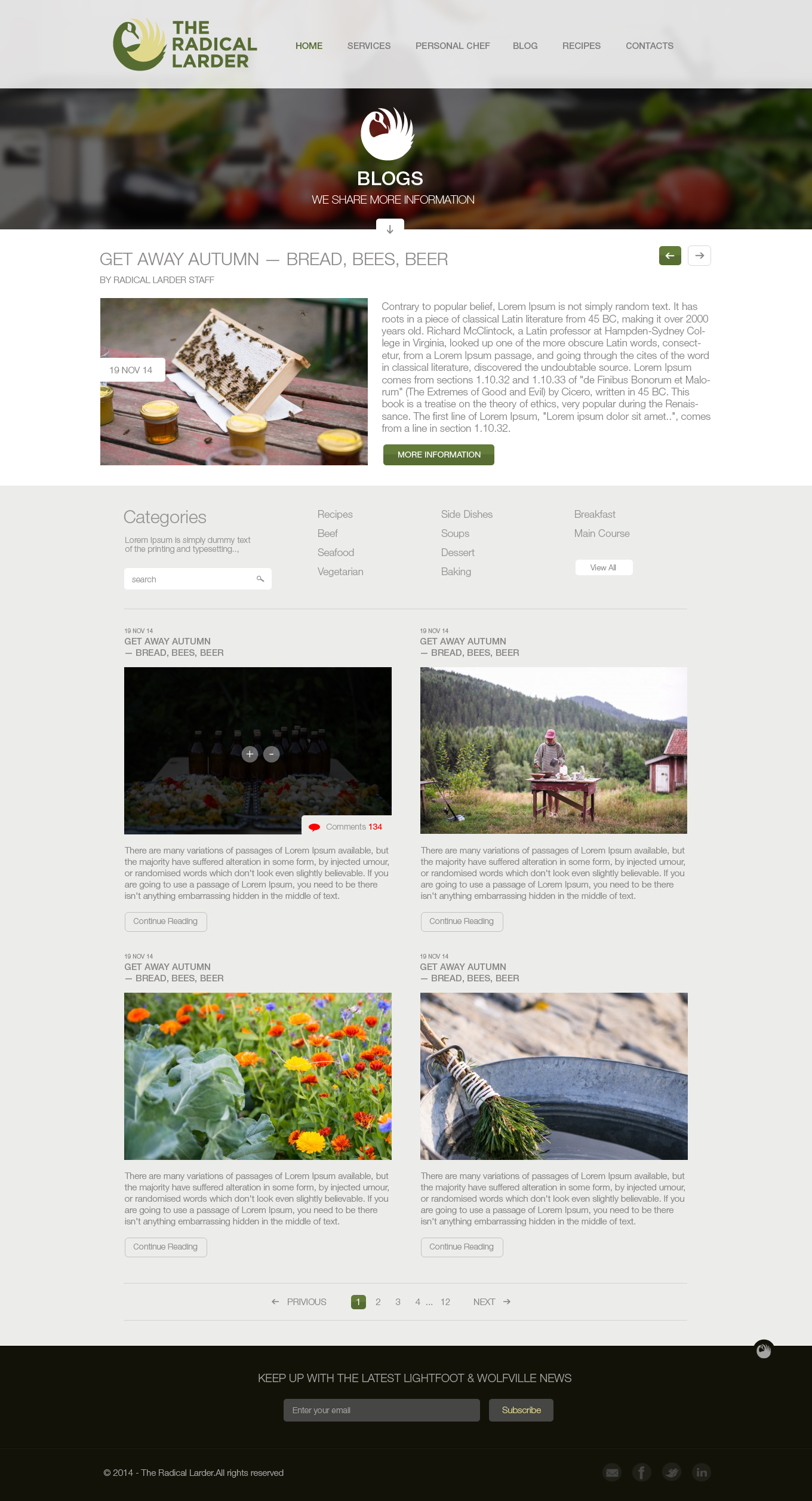 Web Page Design by Vivek Karthick - Entry No. 96 in the Web Page Design Contest The Radical Larder Web Page Design.