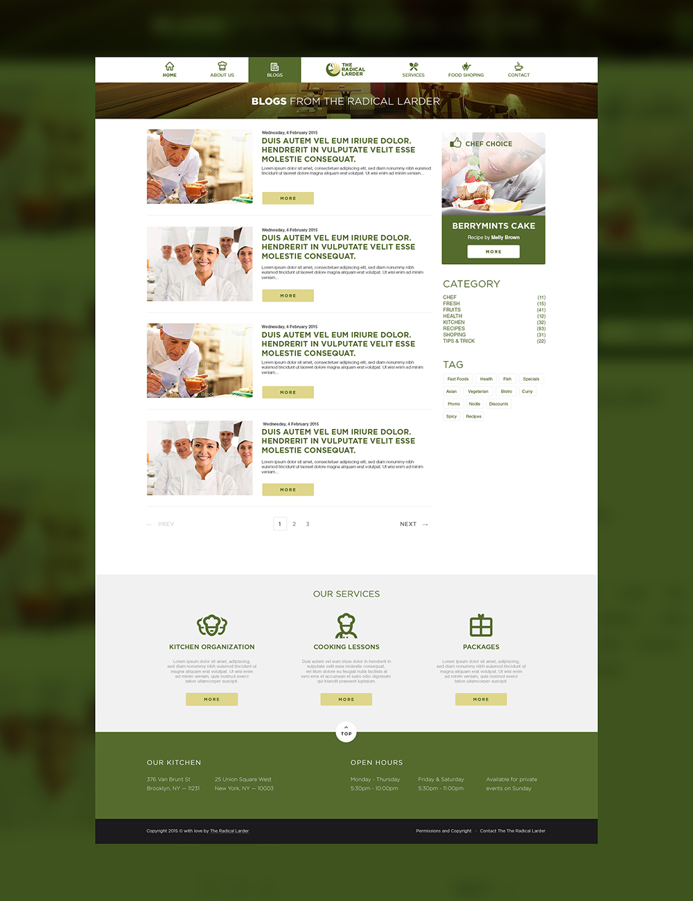 Web Page Design by Private User - Entry No. 99 in the Web Page Design Contest The Radical Larder Web Page Design.