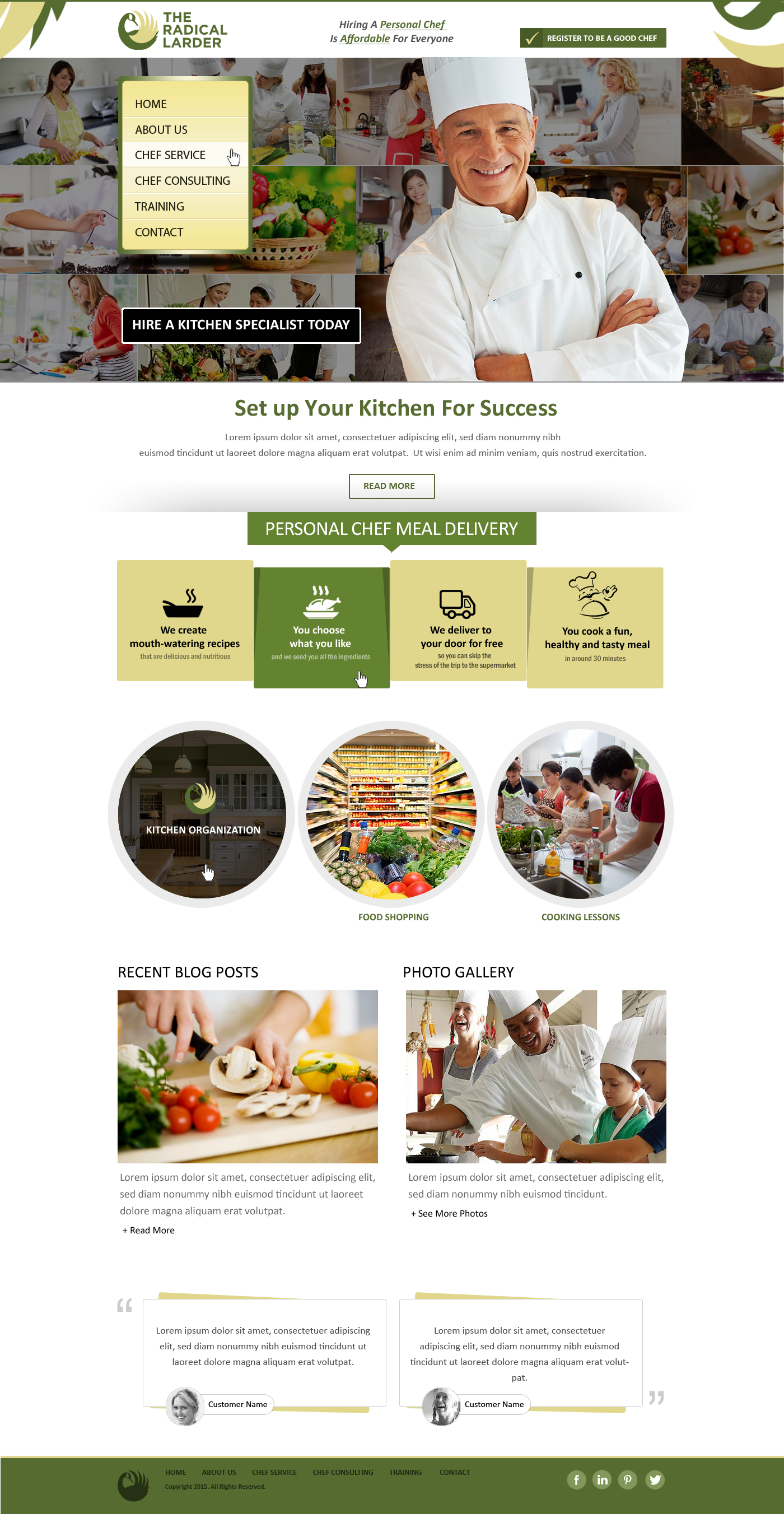 Web Page Design by webexprtz - Entry No. 104 in the Web Page Design Contest The Radical Larder Web Page Design.