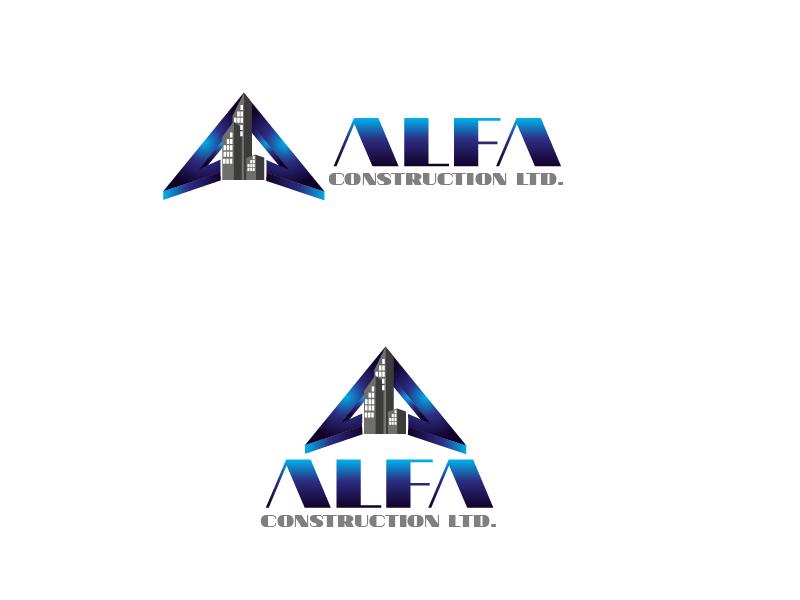 Logo Design by Private User - Entry No. 13 in the Logo Design Contest Fun Logo Design for Alfa Construction Ltd.