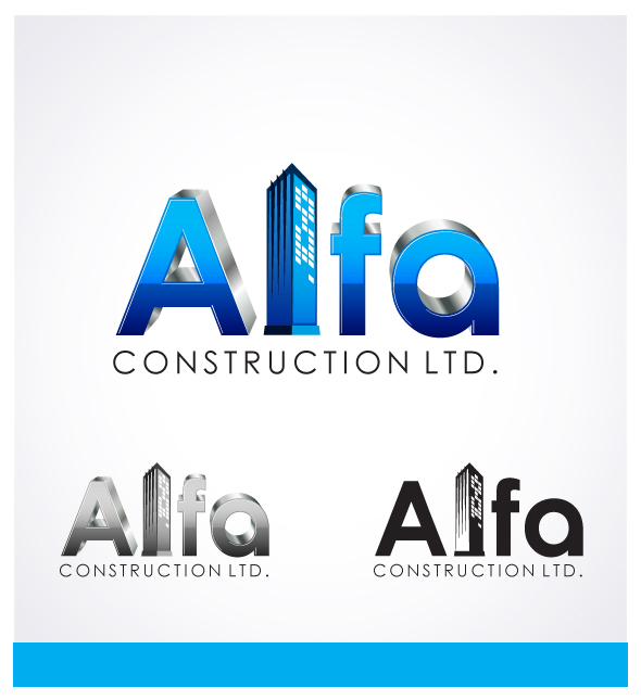 Logo Design by Puspita Wahyuni - Entry No. 20 in the Logo Design Contest Fun Logo Design for Alfa Construction Ltd.