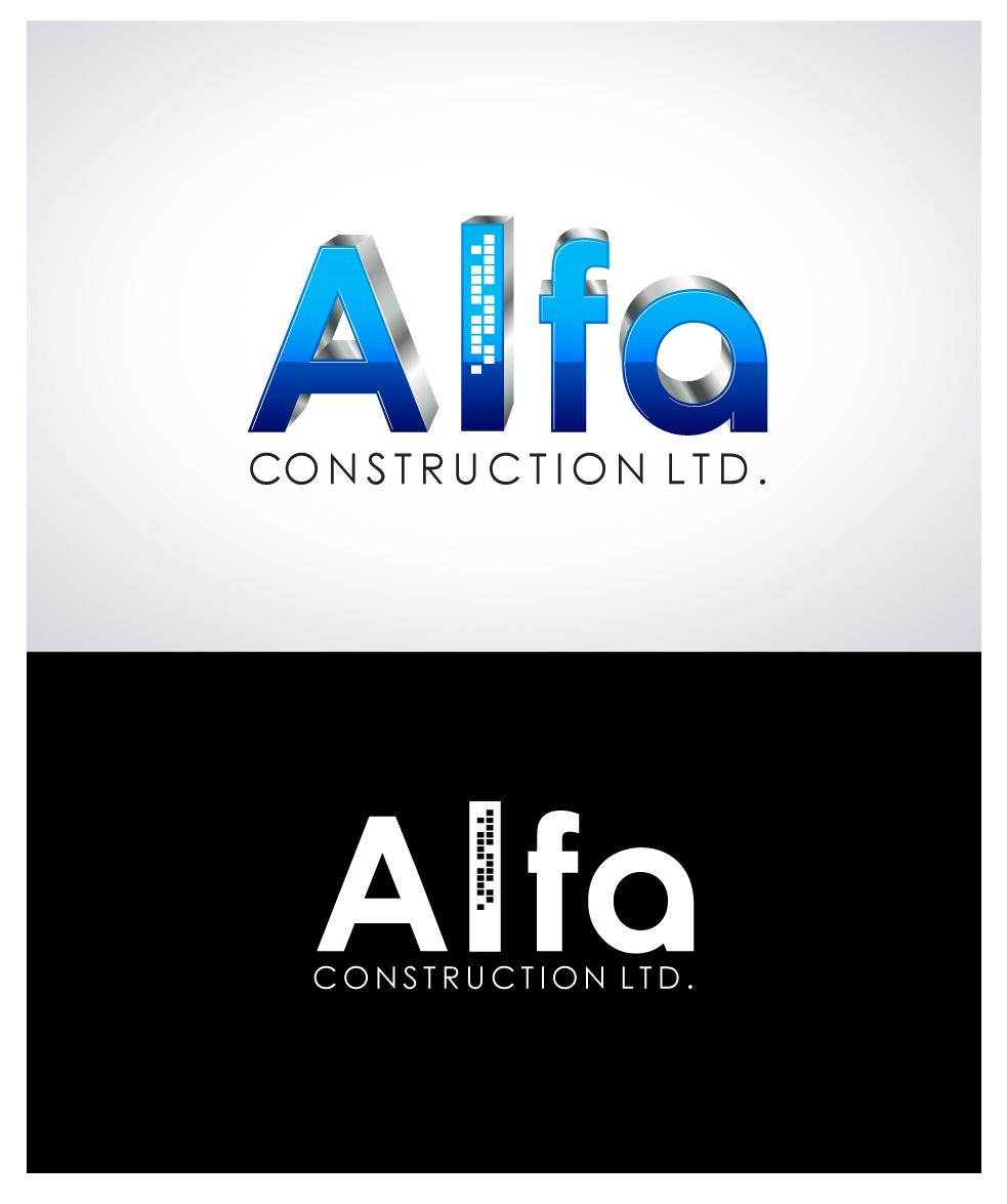 Logo Design by Puspita Wahyuni - Entry No. 27 in the Logo Design Contest Fun Logo Design for Alfa Construction Ltd.