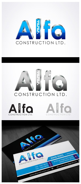 Logo Design by Puspita Wahyuni - Entry No. 31 in the Logo Design Contest Fun Logo Design for Alfa Construction Ltd.