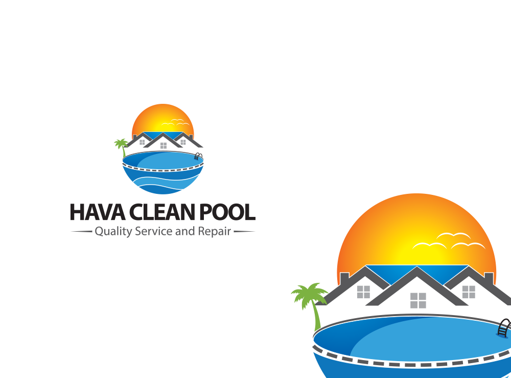 Logo Design by Asrullah Muin - Entry No. 23 in the Logo Design Contest Hava Clean Pool Quality Service and Repair Logo Design.