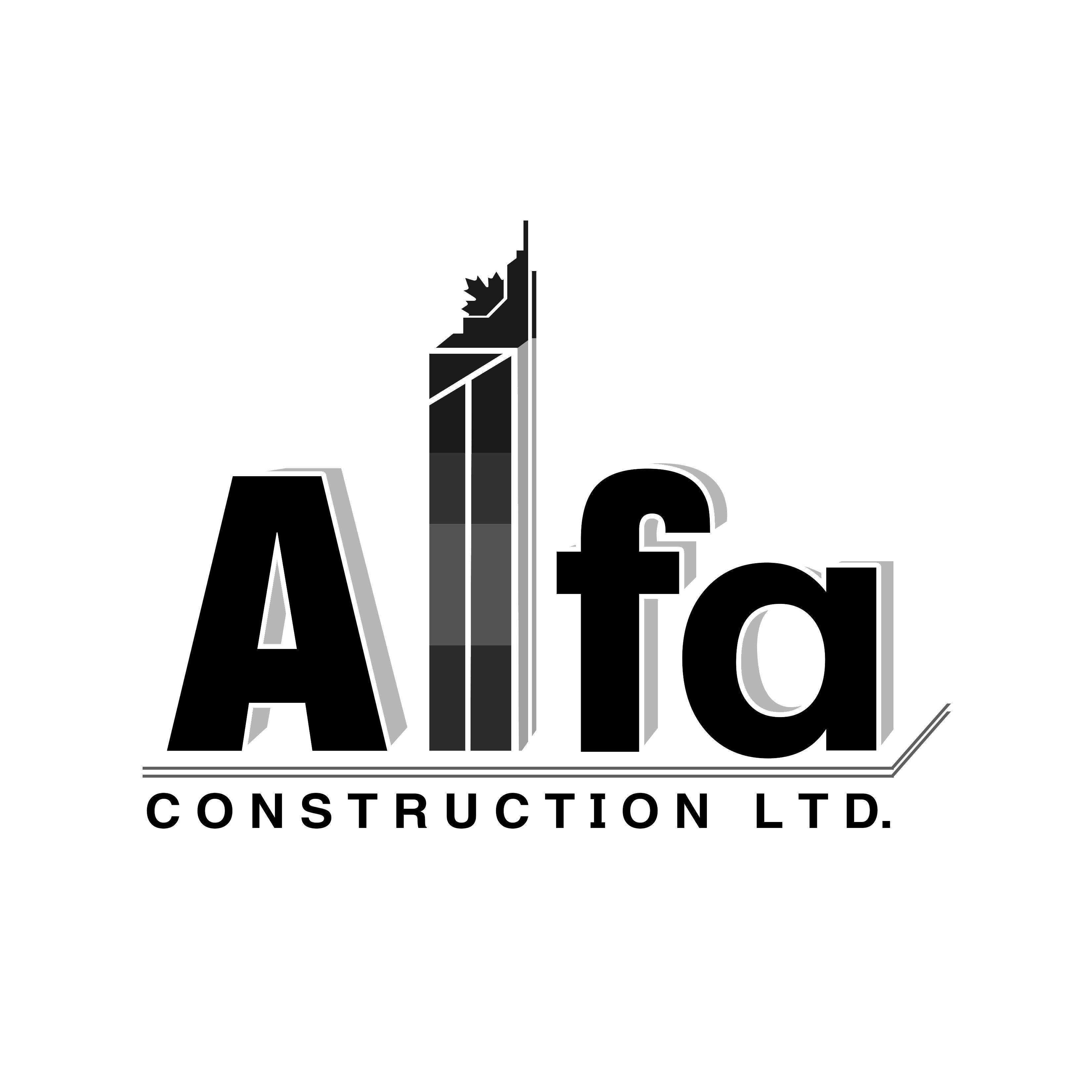 Logo Design by Allan Esclamado - Entry No. 33 in the Logo Design Contest Fun Logo Design for Alfa Construction Ltd.